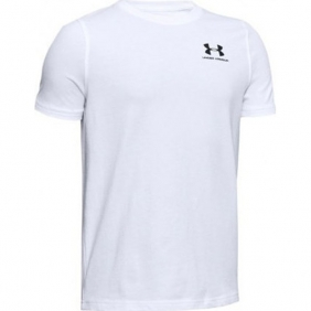 UNDER ARMOUR Cotton SS T-SHIRT (1347096 100 WHITE)